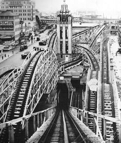 How Coney Island Gave Us the First Roller Coasters – (Travalanche) Coney Island Amusement Park, Amusement Park Rides, Roller Coasters, New York Pictures, Old Pictures, Vintage New York, Staten Island, New York City, Sky