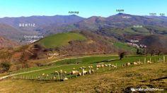 2014-03-08 Imagen del borde Sur de nuestro Valle, tomada desde el carretil que une Zozaia con Almandoz, en una preciosa mañana...