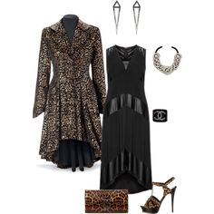 A fashion look from January 2015 featuring vegan dresses, Yves Saint Laurent sandals and leopard purse. Browse and shop related looks.