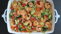 Garlic Roasted Shrimp with Zucchini and Tomatoes : Recipes : do it Delicious