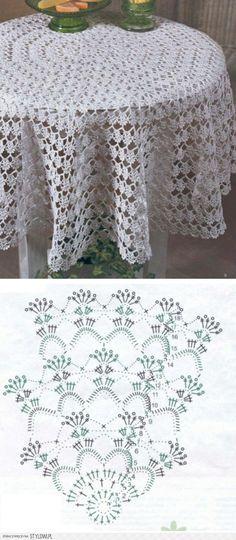 Mis Pasatiempos Amo el Crochet: Mantel redondo en ganchillo ...