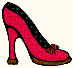 free applique pattern shoe quilt block - a high heel shoe with a bow