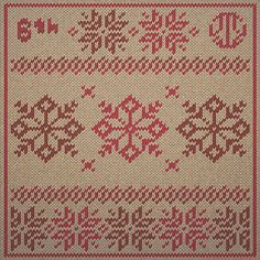 The BertieWorks Advent Calendar; Dec 6th: Snowflake Motif  #Christmas #Advent #Adventcalendar #xmas #Illustration #Illustrator #Art #Adobe #BertieWorks #Knitted #Snowflakes #Motif #Pattern #Tradition