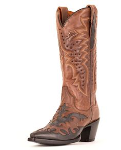 Women's Wynona Boots - Chocolate/Black - Dan Post  LOVE the black and brown combo and the designs