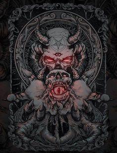 Image result for dark art skulls