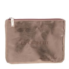 Clutch Citizen Crosette - French Chic! Casual Soft copper metallic clutch with zipper for your grand entrance by Where Else. 39.00