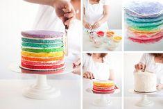 Regenboog taart! Wauw!