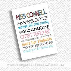 {The Organised Housewife} Teacher Appreciation Print 2