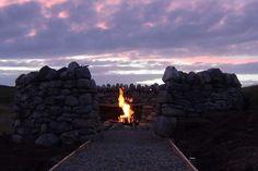 Camp Fire Glamping at Mangersta Croft Wigwams