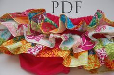 Ruffle Diaper Cover PATTERN, Baby Girl Sewing Tutorial, Infants 0-3m- Toddler 3T.