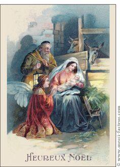 Carte Heureux Noël pour envoyer par La Poste, sur Merci-Facteur ! #crèche #noël #noël2014 #Christmas #MeryChristmas #navidad #petitJésus #carte #sapin
