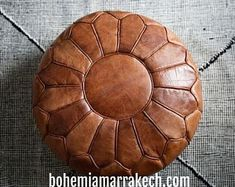 Moroccan POUF leather OFF** original leather Pouf ottoman pouf morrocan leather pouf brown darker Hx cmx 50 CM D) Leather Pouf Ottoman, Moroccan Leather Pouf, Moroccan Pouffe, Classic Leather, Real Leather, Cow Leather, Square Pouf, Living Room Seating, Natural Leather