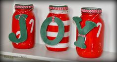 Christmas Mason Jars Holiday Centerpieces by RedLetterDaysStudio