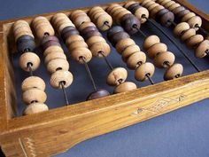 Vintage Soviet Wooden Abacus. Home Office Decor. Medium size. Child abacus.