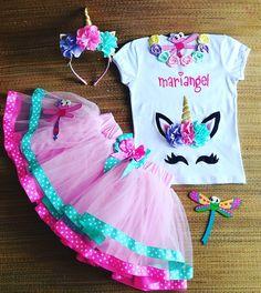Decoracin de blusa y tiara colores unicornio VIDEO No 431 abda00d9610