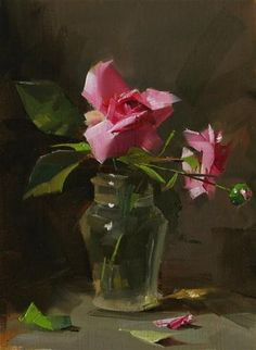 """Captains Roses --- Sold"" - Original Fine Art for Sale - © Qiang Huang"