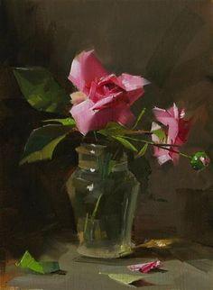 """Captains Roses --- Sold"" - Original Fine Art for Sale - © Qiang Huang"