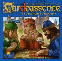 Cardcassonne Card Game    http://www.boardgamegeek.com/boardgame/58798/cardcassonne