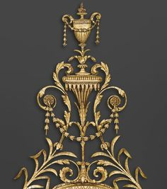 George III, giltwood carving England ca. 1775/85