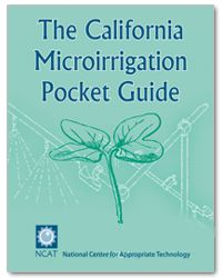 "This 150 page ""take-to-the-field"" guidebook packs an impressive amount of how-to information into a small (4"" x 6.5"") format that fits into your hip pocket. The book provides clear, step-by-step instructions for managing and maintaining all types of microirrigation systems, including both drip systems and microsprinklers. #ATTRA #Sustainable #Agriculture #Irrigation"