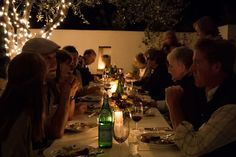 Patio dinner at Santa Barbara Winery