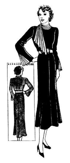 Petites soirées , mode de 1936 | 1930 | Pinterest