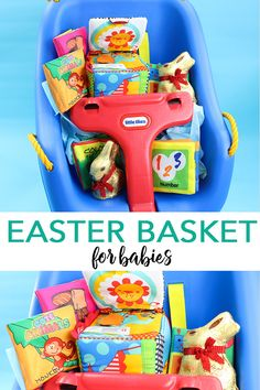 Create an Easter basket for a baby with a swing and some toys and of course a Lindt Gold Bunny or two! A swing is a unique way to wrap up Easter gifts for infants as it can hold some goodies but it also a gift itself! This is definitely a way to think outside of the basket when it comes to your Easter basket gift ideas! Be sure to head to the @lindt_chocolate blog for more Lindtspiration on taking Easter to the next level for your loved ones!  #MyLindtEasterBasket #LindtPartner #Sponsored