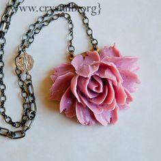 Beautiful peony necklace.