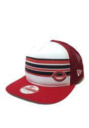 dd04814003c New Era Cincinnati Reds Red Rally Stripe 9FIFTY Snapback Hat Cincinnati  Reds