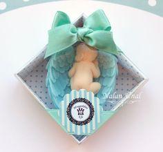 Doğum Hediyeliği İçin Melek Kanatlı Bebek Sabun