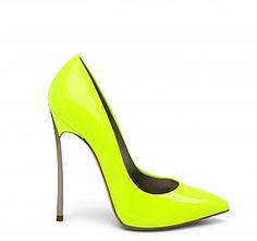 Zapatos de tacón flúor by Casadei!