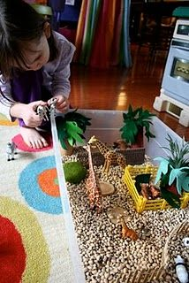 "Some great sensory box ideas. I especially like the ""I Spy"" boxes with the guides of what to look for."