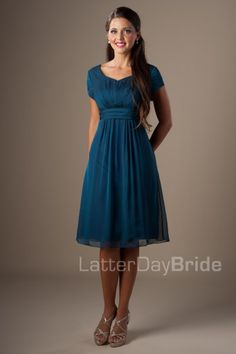 A Line Sweetheart Short Sleeves Teal Chiffon Modest Party Bridesmaid Dress Modest Dresses, Casual Dresses, Prom Dresses, Dresses With Sleeves, Formal Dresses, Short Sleeves, Long Dresses, Wedding Dresses, Affordable Bridesmaid Dresses