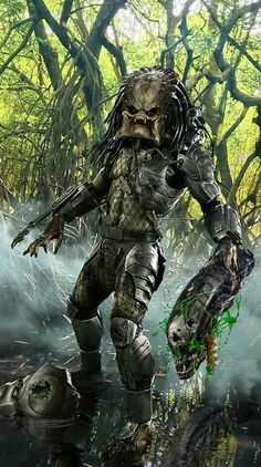 "herochan: ""Classic Predator Art by John Gallagher Alien Vs Predator, Predator Cosplay, Wolf Predator, Predator Hunting, Predator Movie, Predator Alien, Apex Predator, Arte Alien, Alien Art"