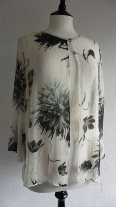 37f909505d011 Michaela Louisa New Size 10 Shrug Silk Devore Oyster   Grey Floral Oysters