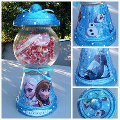 Terracotta Gumball Machine Candy Jar Pot Dish by GlueGunGoneWild