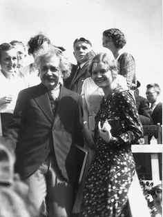 Einstein at the commencement ceremony.