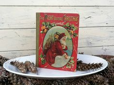 Extremely Old Vintage Christmas Book  by happydayantiques on Etsy