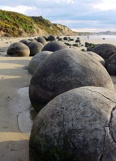 The Moeraki Boulders on Otago Coast, New Zealand (by Nina).