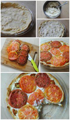 Heirloom tomato and feta cheese tart #recipe via The Together Traveler