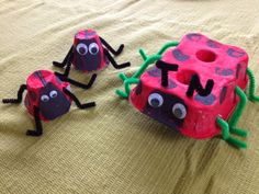 Simple Treasures 2u: Guest Post: Ladybug Crafts for Kids  Easy spring crafts with paper plates and egg cartons / boxes