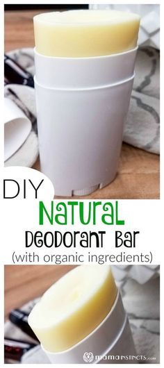 Worried about the toxic ingredients in conventional deodorants? Try this DIY natural deodorant recipe bar made with organic ingredients. Your armpits will thank you! beauty DIY Natural Deodorant Bar (with Organic Ingredients) Diy Deodorant, Diy Natural Deodorant, Home Made Deodorant Recipes, Natural Diy Shampoo, Best Organic Deodorant, Coconut Oil Deodorant, Essential Oil Deodorant, Organic Skin Care, Homemade Beauty Products