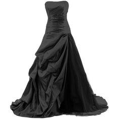 Dresstells Strapless Floor-length Satin Evening Gown Formal Wedding... ($148) ❤ liked on Polyvore featuring dresses, gowns, long dresses, vestidos, strapless dress, long satin dress, floor length gown, long strapless dress and satin dress