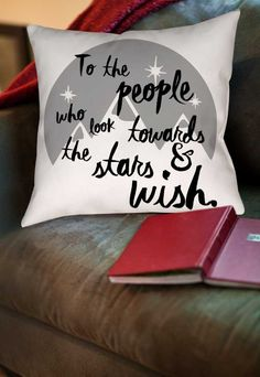 Look Towards the Stars and Wish Throw Pillow- A Court of Mist and Fury pillow, A…