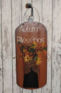 Hanging Pumpkin With Basket/Autumn Blessings