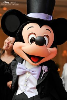 Everybody's favorite wedding guest - Mickey Mouse, dressed in his very best formal attire
