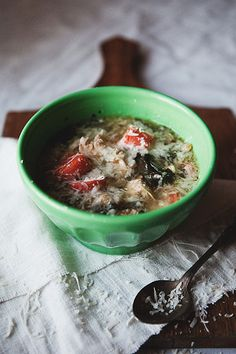 Chicken Soup w/ Kale and Barley