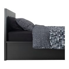 MALM Storage bed - black-brown, Queen - IKEA