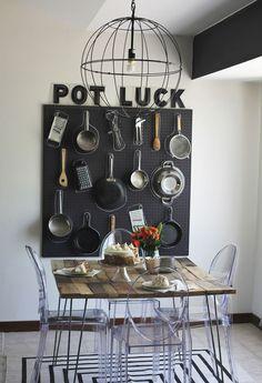 .Interesting kitchen storage idea