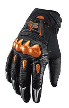 Fox Racing Bomber Men's Motox Motorcycle Gloves - Black/orange / Medium http://www.motorcyclegoods.com/top-28-cheaper-motorcycle-short-gloves-for-road-bikes-2/